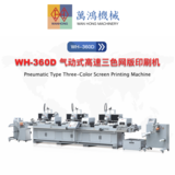 WH-360D Pneumatic Type Three-Color Screen Printing Machine